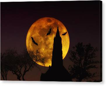 Halloween Moon Canvas Print by Bill Cannon