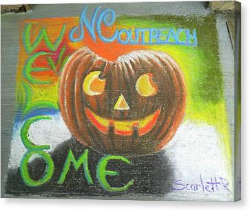 Halloween Ncohc Welcome Canvas Print by Scarlett Royal