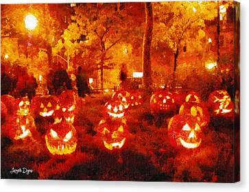 Halloween Night - Da Canvas Print by Leonardo Digenio