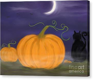 Halloween Night Canvas Print by Roxy Riou