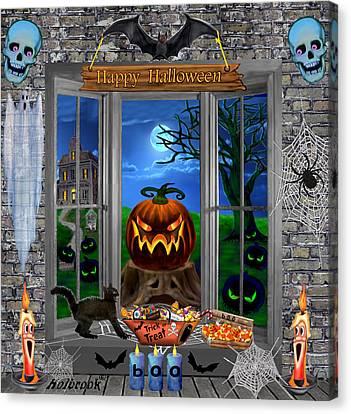 Halloween Night Stalker Canvas Print by Glenn Holbrook
