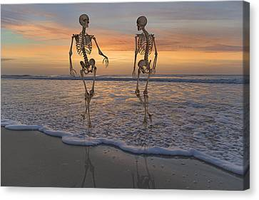 Halloween Stroll Canvas Print by Betsy Knapp