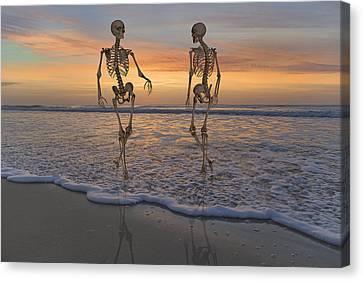 Halloween Stroll Canvas Print by Betsy C Knapp