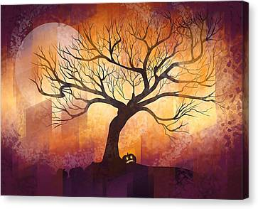 Halloween Tree Canvas Print by Thubakabra