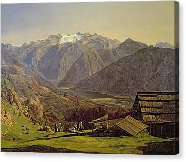 Hallstatter See Canvas Print by Ferdinand Georg Waldmuller