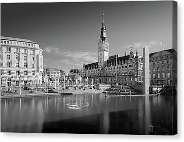 Hamburg - Binnenalster Canvas Print by Marc Huebner