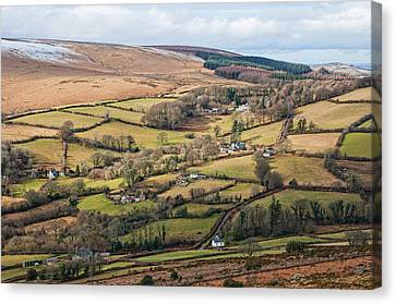 Hamel Down From Honeybag Tor Canvas Print by Pete Hemington