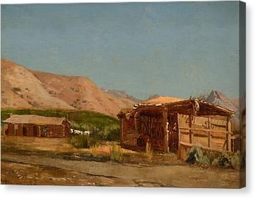 Hamilton's Ranch Nevada  Canvas Print by Celestial Images