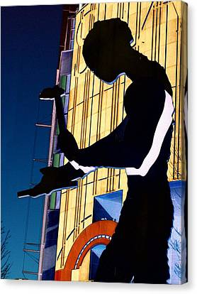 Hammering Man Canvas Print by Tim Allen