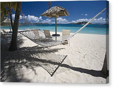 Hammock On The Beach Canvas Print by Hammock on the beach