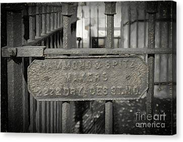 Hammond And Spitz Makers - Nola- Charcoal Canvas Print by Kathleen K Parker
