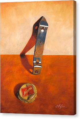 Hamm's Beer Churchkey Canvas Print by Karl Melton