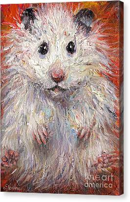 Hamster Painting  Canvas Print by Svetlana Novikova