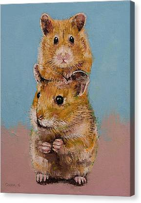 Hamsters Canvas Print by Michael Creese