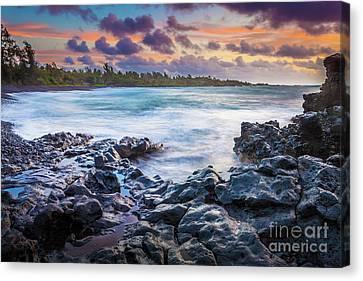 Hana Bay Rocky Shore #1 Canvas Print by Inge Johnsson