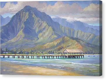 Hanalei Pier Canvas Print by Jenifer Prince