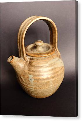 Hand Thrown Teapot Canvas Print by Jeff Townsend