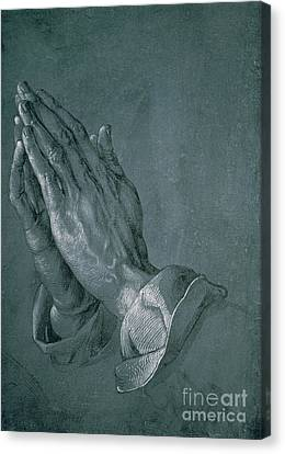 Hands Of An Apostle Canvas Print by Albrecht Durer