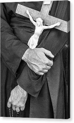 Hands Of The Cross Canvas Print by Steven Bateson