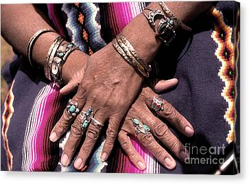 Hands Of The Earth Canvas Print by Linda  Parker