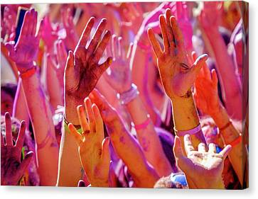 Hands Up-2 Canvas Print by Okan YILMAZ