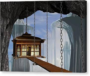 Hanging House Canvas Print by Cynthia Decker