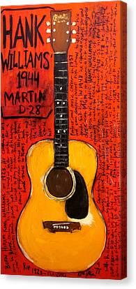 Hank Williams 1944 Martin D28 Canvas Print by Karl Haglund