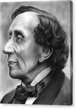 Hans Christian Andersen Canvas Print by Greg Joens