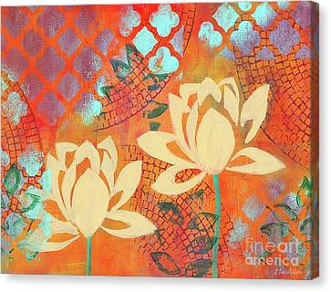 Happiness Abstract #2 Lotus Canvas Print by Hao Aiken