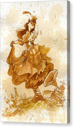 Happiness Canvas Print by Brian Kesinger