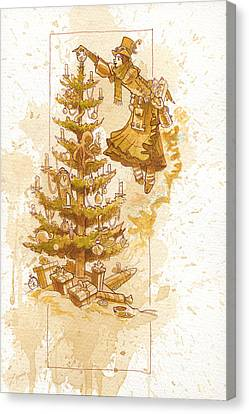 Happy Christmas Canvas Print by Brian Kesinger