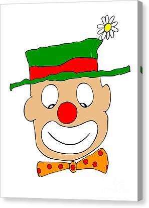 Happy Clown Canvas Print by Michal Boubin