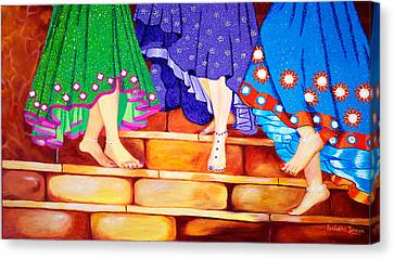 Happy Go Lucky Canvas Print by Sushobha Jenner