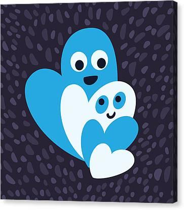 Happy Hearts Family Canvas Print by Boriana Giormova