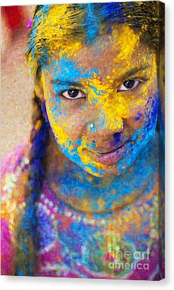 Happy Holi Canvas Print by Tim Gainey