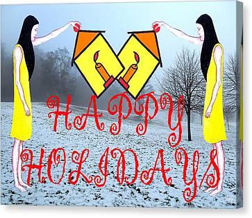 Happy Holidays 31 Canvas Print by Patrick J Murphy