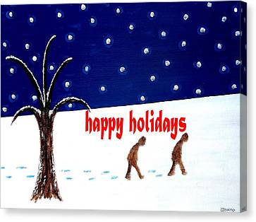 Happy Holidays 5 Canvas Print by Patrick J Murphy