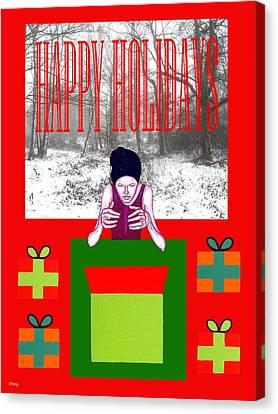 Happy Holidays 63 Canvas Print by Patrick J Murphy