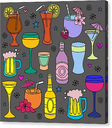 Happy Holidays Canvas Print by Brenda Knight