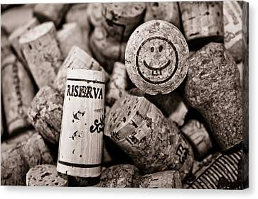 Happy Hour - Corks Canvas Print by Colleen Kammerer