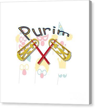 Happy Joyous Purim  Canvas Print by Humorous Quotes