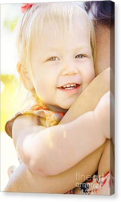 Happy Little Girl Smiling In Summer Sun Light Canvas Print by Jorgo Photography - Wall Art Gallery