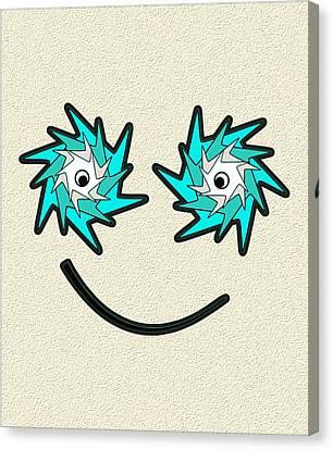 Happy Monster Canvas Print by Anastasiya Malakhova