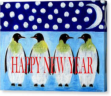Happy New Year 5 Canvas Print by Patrick J Murphy