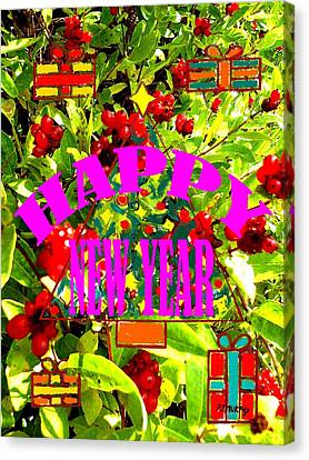 Happy New Year 6 Canvas Print by Patrick J Murphy