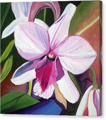 Happy Orchid Canvas Print by Marionette Taboniar