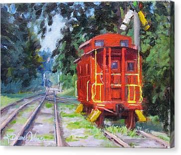 Happy Rails Canvas Print by L Diane Johnson