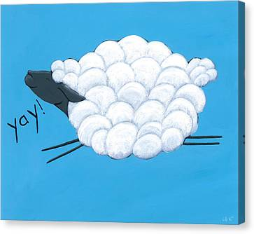 Happy Sheep Canvas Print by Christy Beckwith
