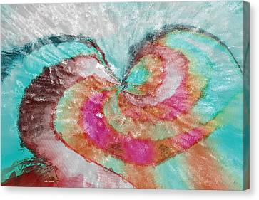 Happy Valentine's Day Canvas Print by Linda Sannuti