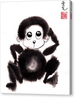 Happy Year Of The Monkey Canvas Print by Oiyee At Oystudio